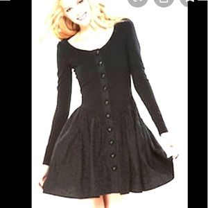 Betsey Johnson Black Queen of hearts dress